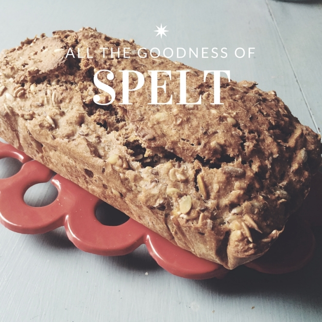 Spelt and seed bread loaf