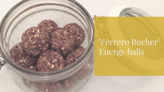 Ferrero rocher energy balls